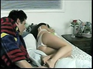 Daddy Daughter Lingerie Old and Young Sleeping Teen