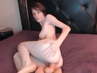 Ass Dildo Masturbating Solo Teen Toy Webcam Boobs
