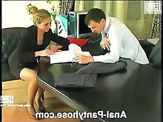 Babe Office Pantyhose Secretary Pantyhose