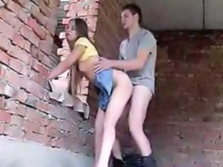 Amateur Clothed Doggystyle Outdoor Teen