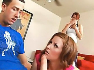 Blowjob European Teen Threesome