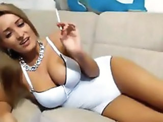 Babe Big Tits European Smoking Webcam