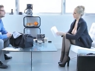 Big Tits European Legs  Office Dress