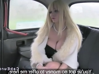 Big Tits Blonde Car European  Huge