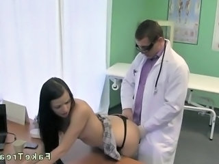 Babe Brunette Doctor Teen Uniform