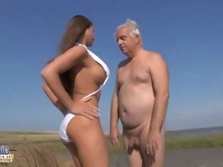 Beach Big Tits Natural Old and Young Teen