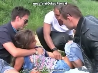 Cute Gangbang Outdoor Russian Teen