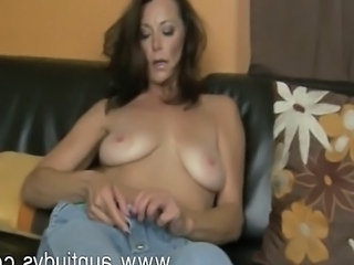 Big Tits European Jeans Mature