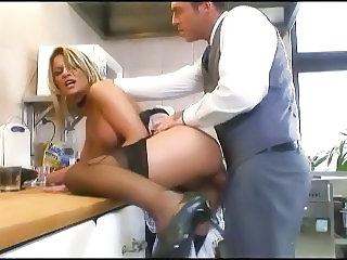 Anal Doggystyle Kitchen  Stockings