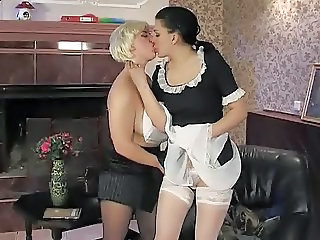 Lesbian Maid  Old and Young Stockings Teen Uniform