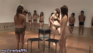 Asian Japanese Party Public Flashing