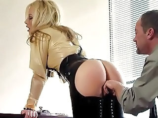 Babe European Office Secretary