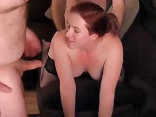 Amateur Cuckold Doggystyle Redhead Threesome Wife
