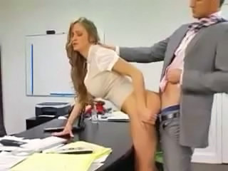 Clothed Doggystyle Office Secretary