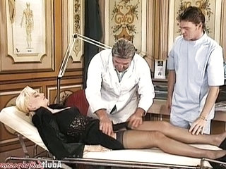 Doctor  Stockings Threesome German