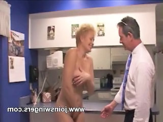 Amateur Kitchen Mature Older Swingers Wife