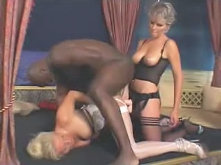 Big Tits Interracial Stockings Strapon Threesome