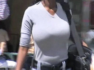 Big Tits Ebony Natural Public