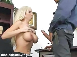 Amazing  Big Tits   Office Pornstar Secretary Silicone Tits