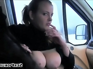 Amateur Big Tits Car Girlfriend Natural Pov Public Huge