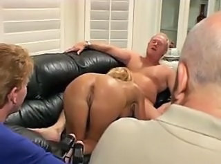 Blonde European Gangbang  Wife