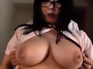 Asian Big Tits Chubby Glasses Natural Student