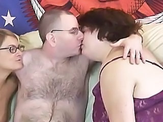 Amateur  Glasses  Threesome