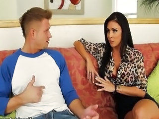 Amazing Brunette  Mom Old and Young Pornstar