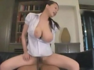 Asian Big Tits  Natural Riding Secretary