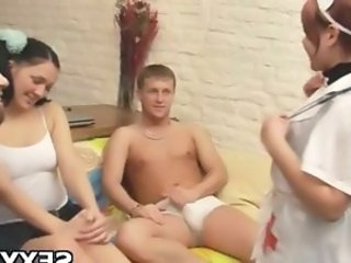 Nurse Teen Threesome Uniform