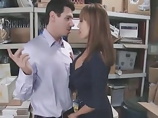 Amazing Big Tits  Office Vintage