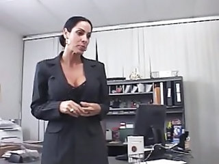 Big Tits European  Mom Office