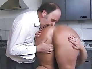 Ass Kitchen Older Wife Kinky