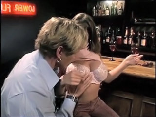 Slut getting cunt fucked in the sports bar