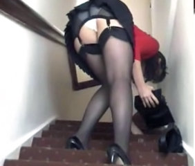 British European  Skirt Stockings Voyeur