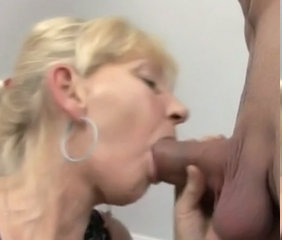 Blowjob Facial European Granny