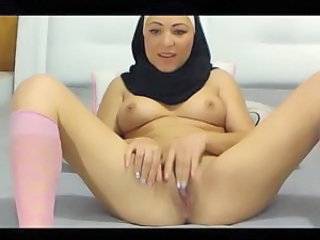 Cute European Masturbating  Nun Webcam