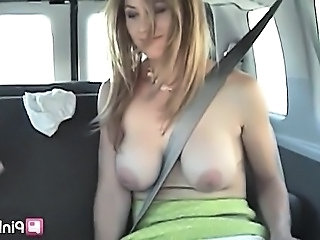 Big Tits Car European Teen