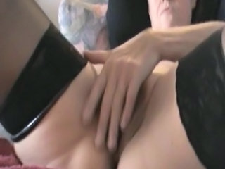 European Masturbating Mature Stockings