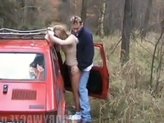Amateur Car Clothed Girlfriend Outdoor Public Polish
