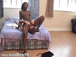 Ebony Facesitting Femdom Interracial Licking