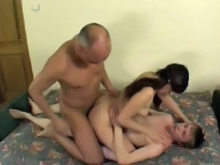 Amateur Anal Daddy Double Penetration Family Old and Young Sister Teen Threesome Amateur