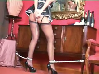 Amazing Bondage Maid  Stockings Tied