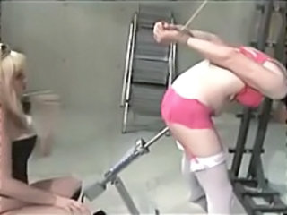 Bondage Lesbian Machine  Stockings