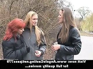 Amateur Lesbian Outdoor Teen Threesome Orgy