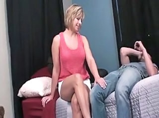Mom Old and Young Footjob