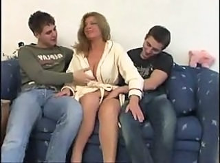 Mature Fucked By Two Young Guys