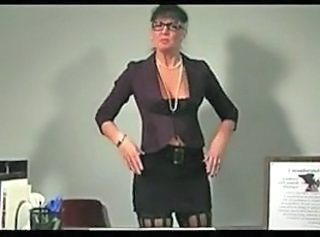 European Glasses Mature Teacher