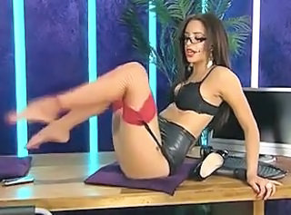 European Glasses School Stockings Teacher