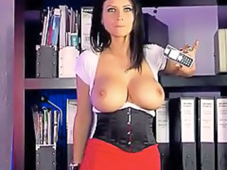 Big Tits Corset  Office Secretary